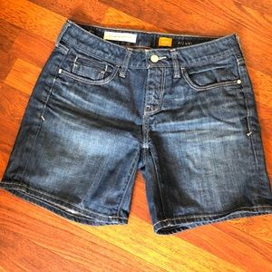 Anthropologie blue jean Pilcro shorts